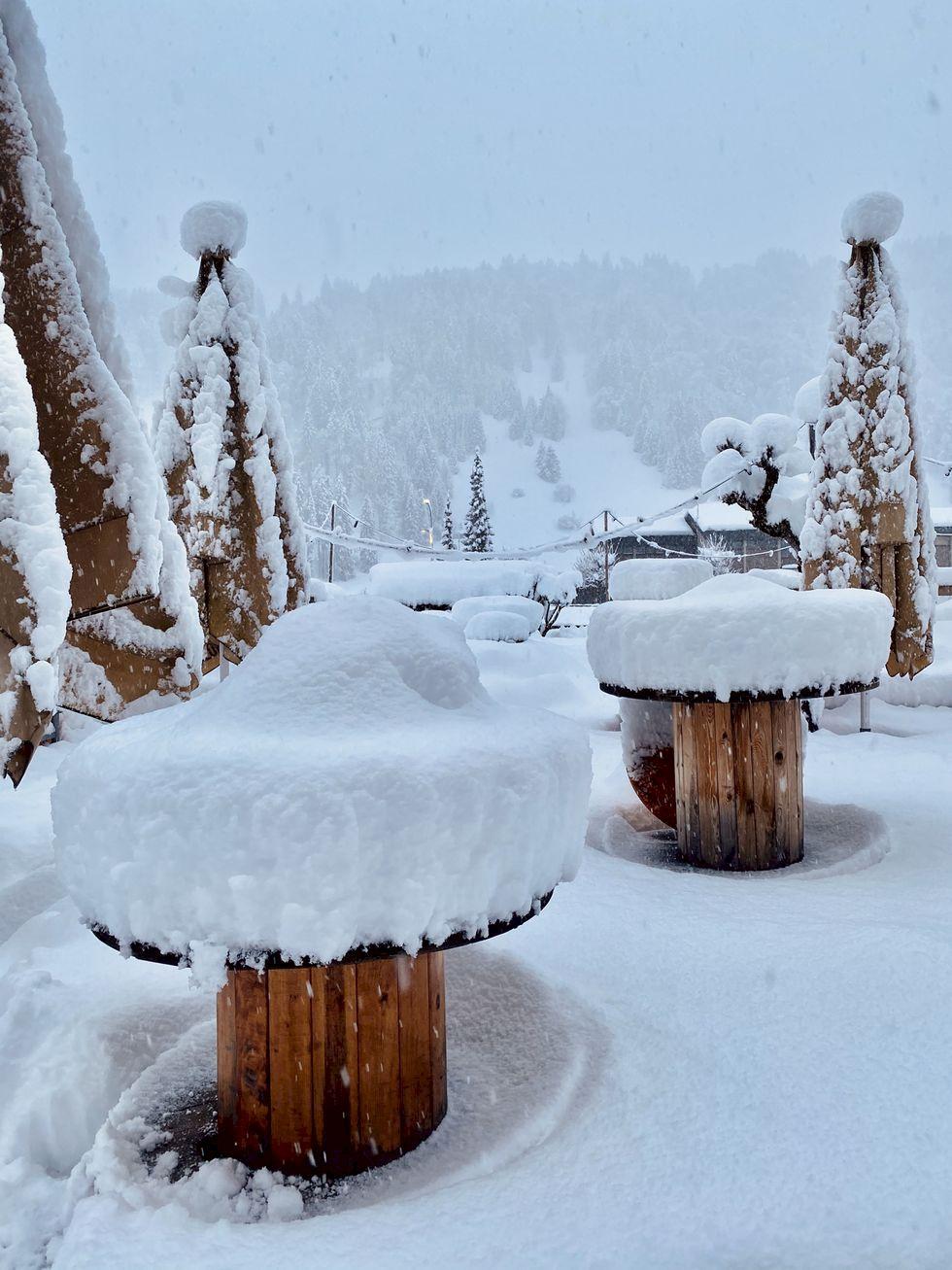 Jobba hemifrån från Alperna - nu kommer snön