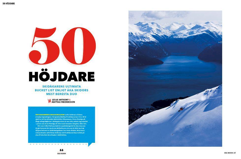 Oktobernumret av Åka Skidor: 50 höjdare, Sibirien, Ötztal, Marsfjällen och mer