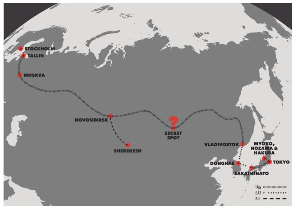 Transsibiriska järnvägen till Japan