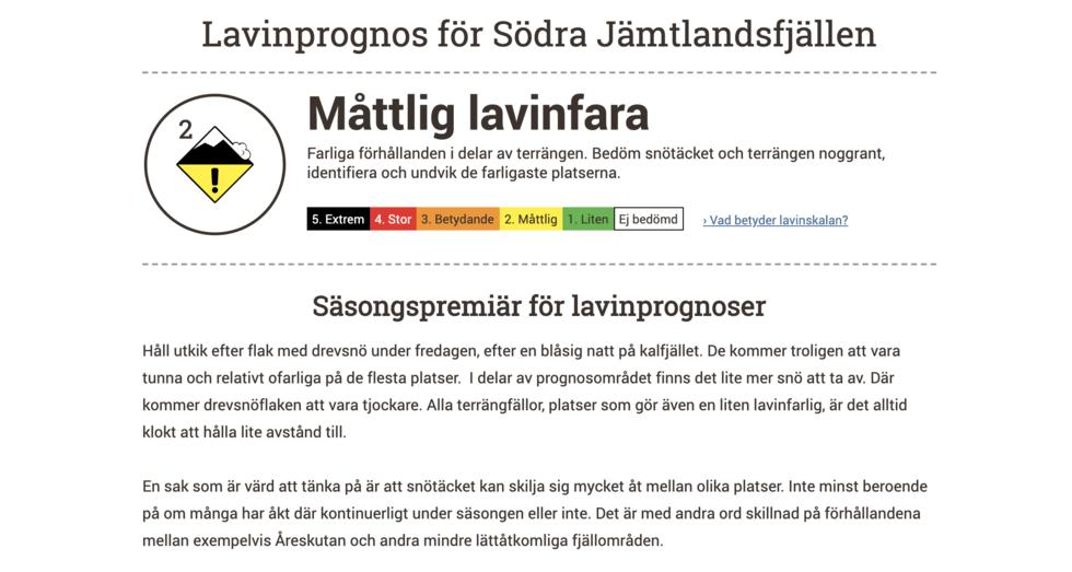 Nu är de svenska lavinprognoserna igång för vintern
