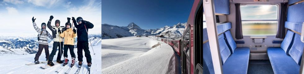 Raka spåret till Alperna utan byten med Sportlovståget