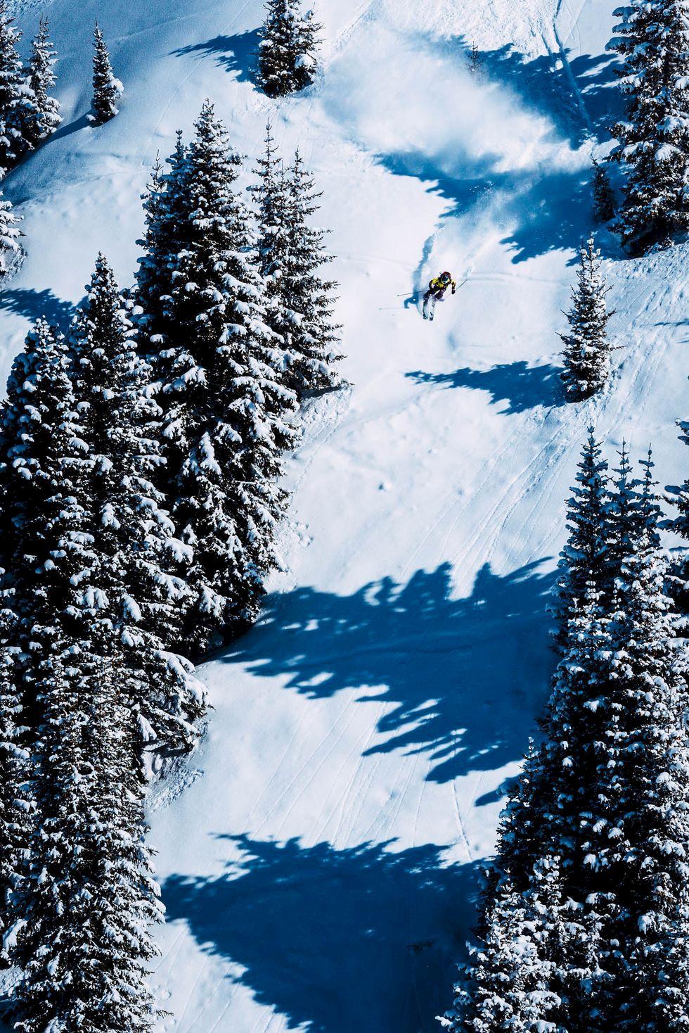 Davos - ospårat ovan Schweiz högsta stad