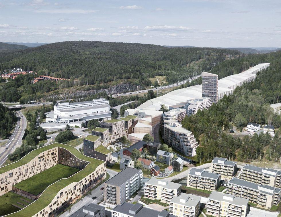 Se den nya inomhusbacken i Oslo ta form
