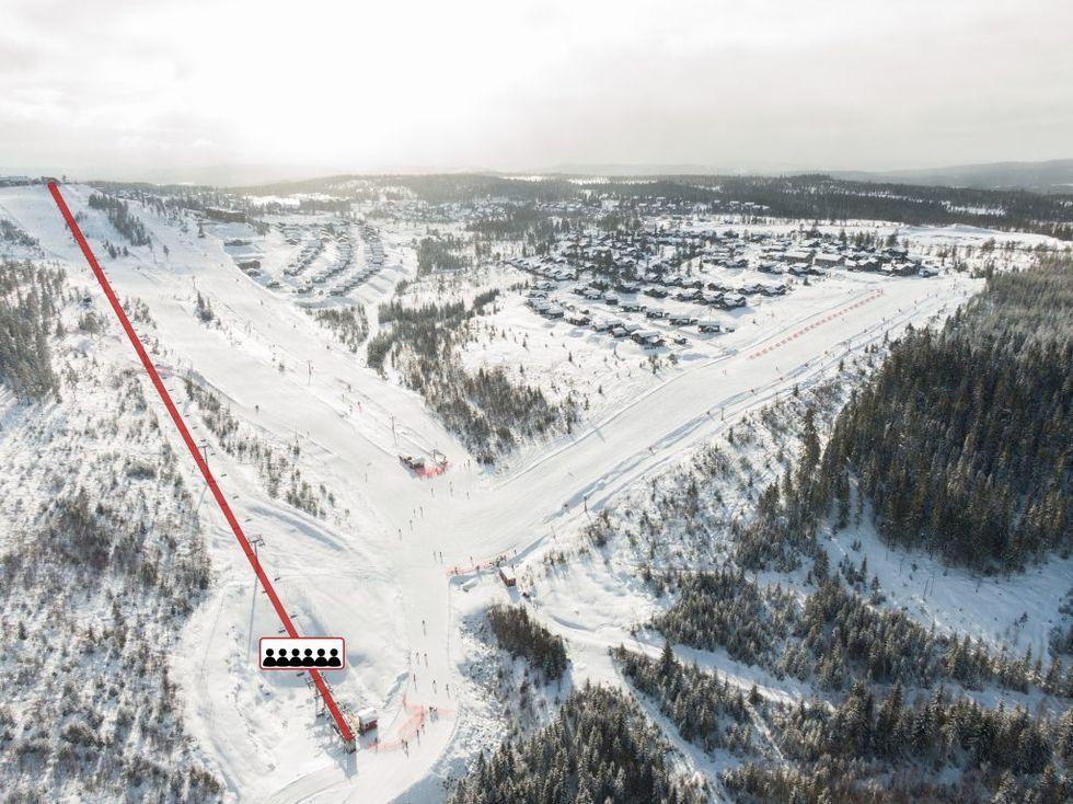 Branäs bygger ny nedfart och 6-stolslift