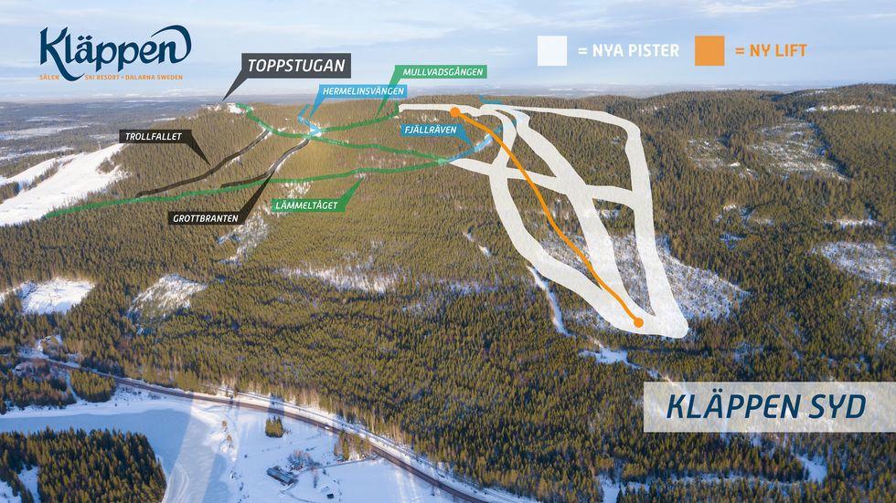 Kläppen bygger nytt skidområde