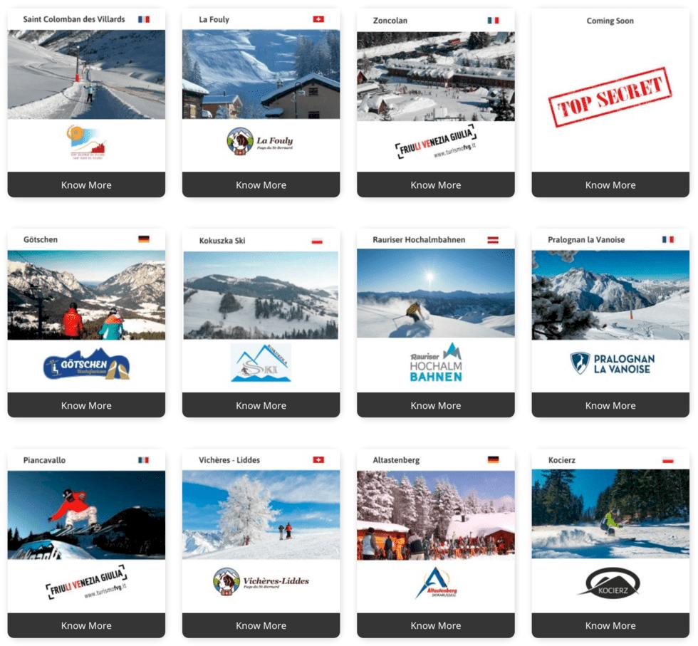 Nytt liftkort med över 100 skidorter i Europa