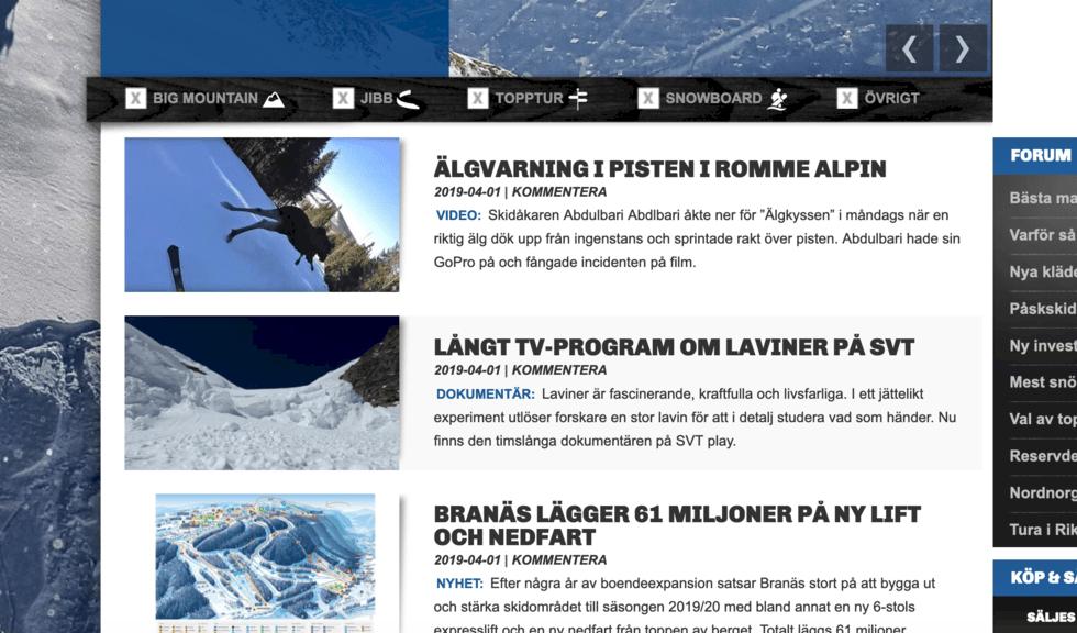Åka Skidor och Freeride.se slås ihop