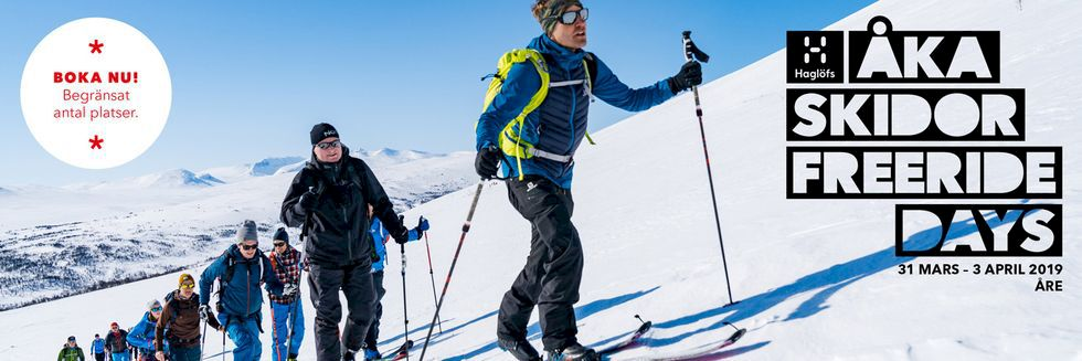 Haglöfs hakar på Åka Skidor Freeride Days