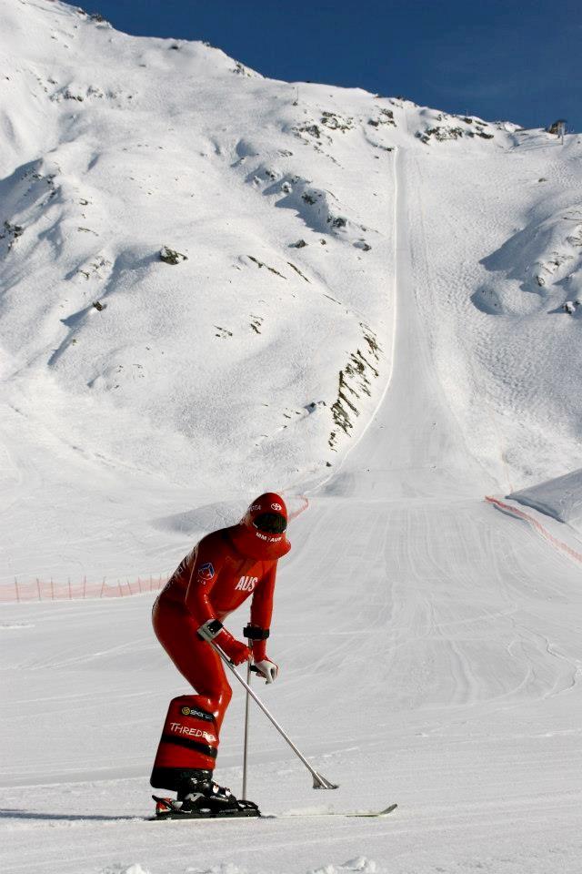 Världens snabbaste australiensare på skidor
