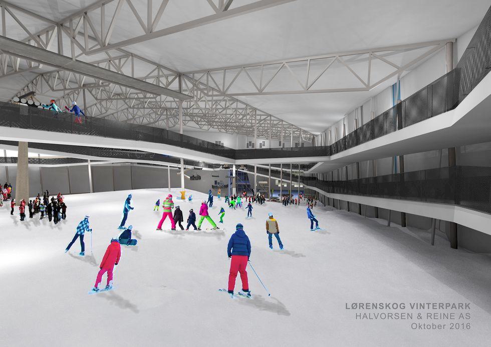 Världens största inomhusbacke byggs i Oslo