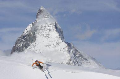 Vårskidåkning i Schweiz