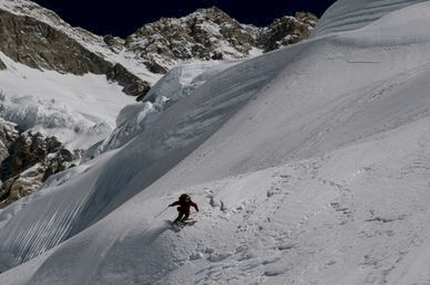 Äntligen skidåkning på Kangchenjunga