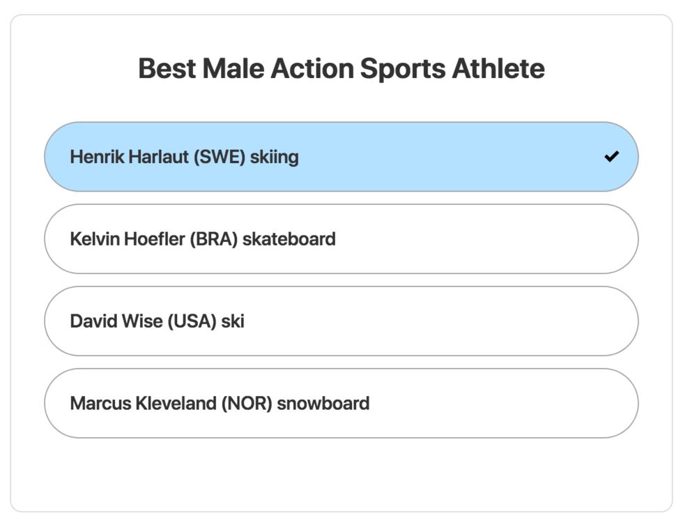 Henrik Harlaut nominerad till ESPY Awards