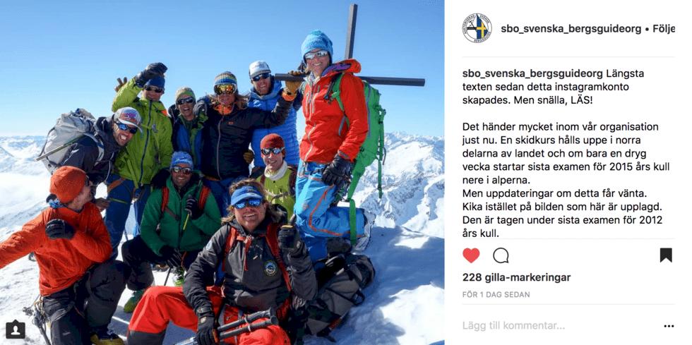 SBO vill ha fler kvinnliga bergsguider
