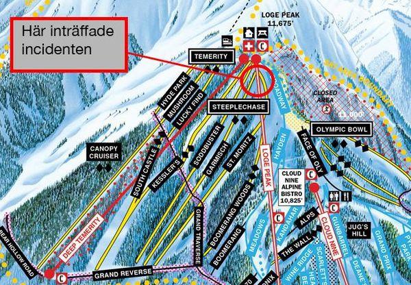 Snowboardåkare puttades av liften av skidåkare – föll 7 meter.