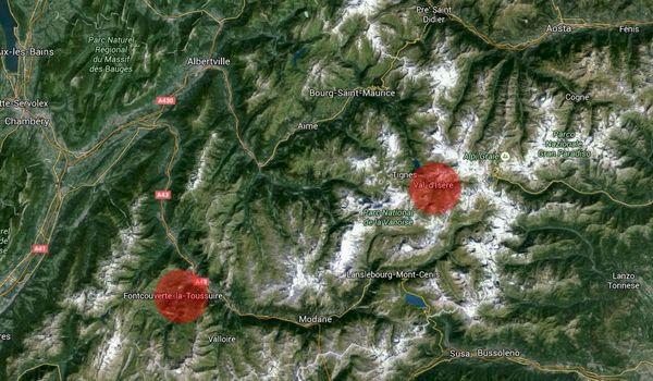 Två dödsfall i alperna efter laviner