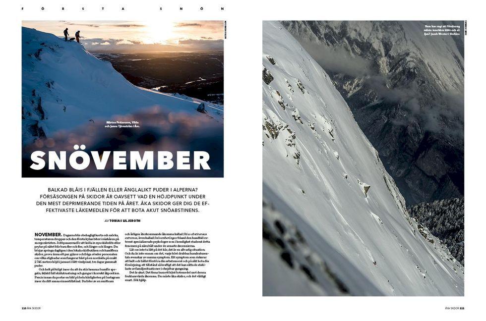 November med Åka Skidor