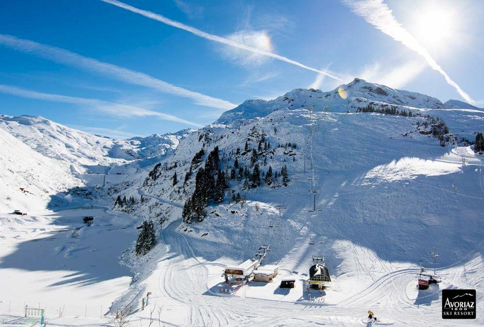 Fransk skidort dränkt under vatten