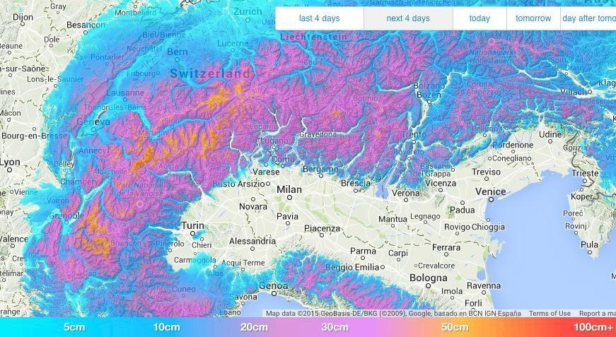 Massivt snöfall intar Alperna i helgen