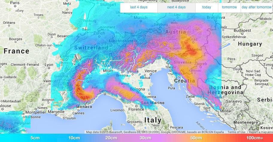 Stor lavinfara i Alperna