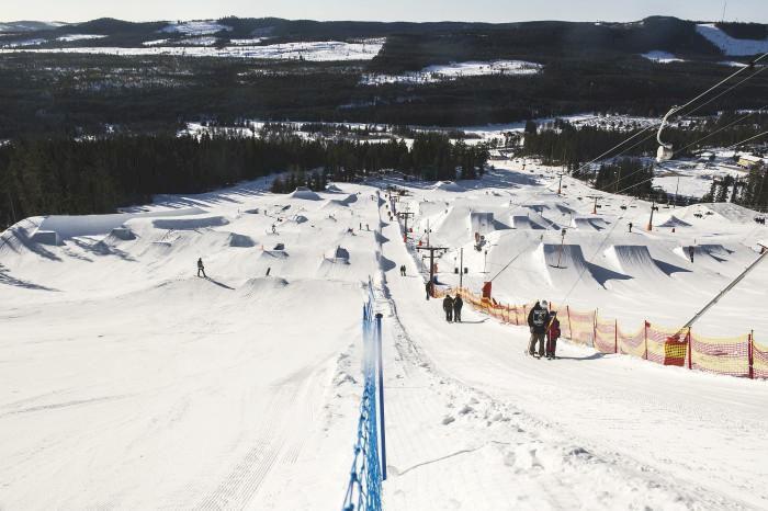 I helgen öppnar Kläppen Snowpark