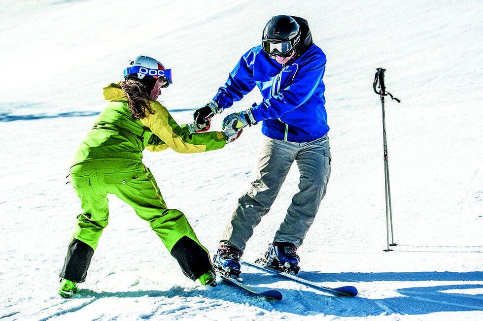 Entusiasternas sammandrabbning - Åka skidor ski camp
