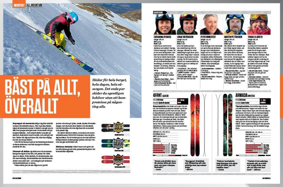 Skidtest 2014: all mountain