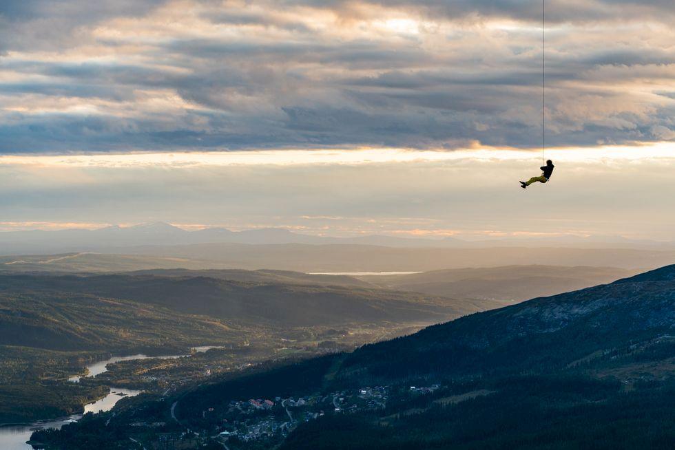 Repsving från Kabinbanan i Åre