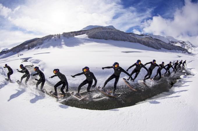Ny sport uppfunnen – Snow Wake-Skate?