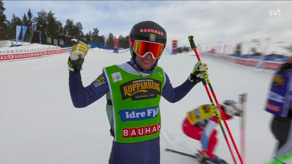 Sandra Näslund vinner VM-guld i skicross