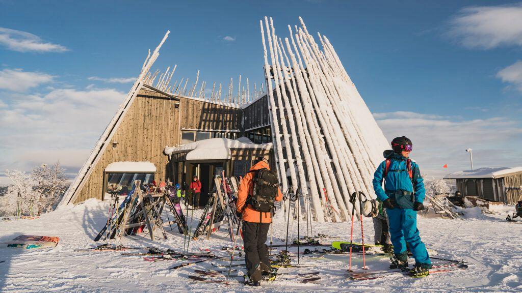 Ett av Sveriges snyggaste pisthak, Tusen i Ramundberget. Foto: Emrik Jansson