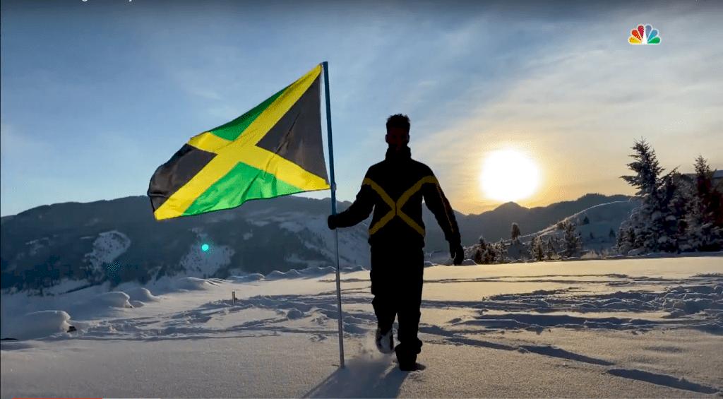 Benjamin Alexander siktar mot att som första skidåkare från Jamaica vara med på nästa vinter-OS. Bild: prntscreen