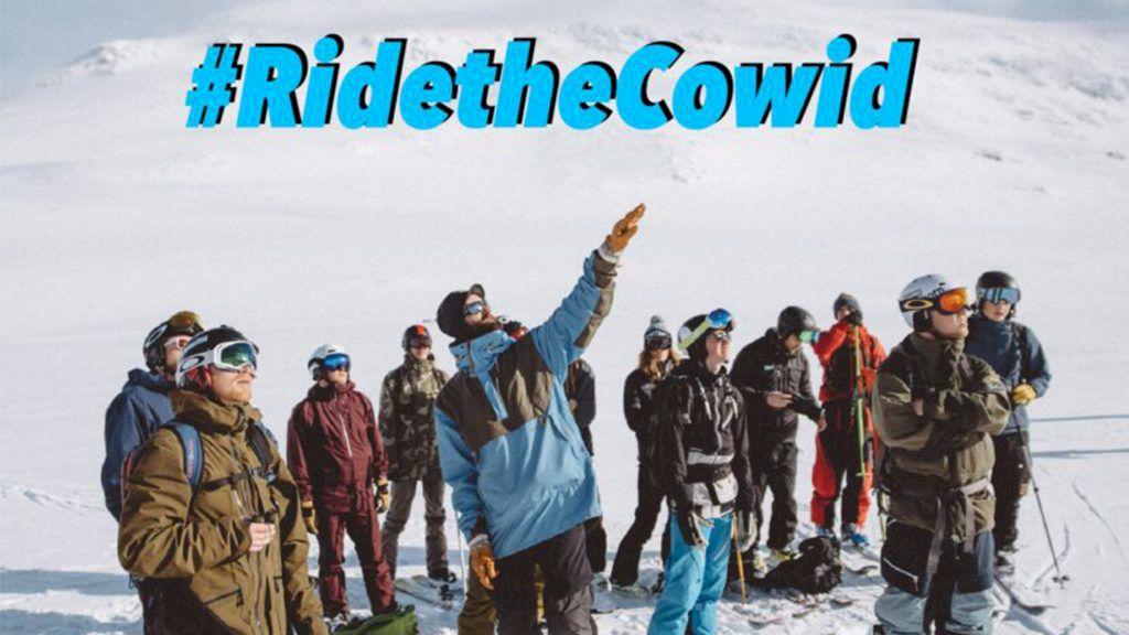"""Tävlingen Ride The Cow i Hemavan anpassar sig och behåller sitt """"id"""" trots pandemi. Foto: Ride The Cow"""
