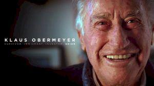 101 år gammal är Klaus Obermeyer en levande skidlegend. Foto: MSP