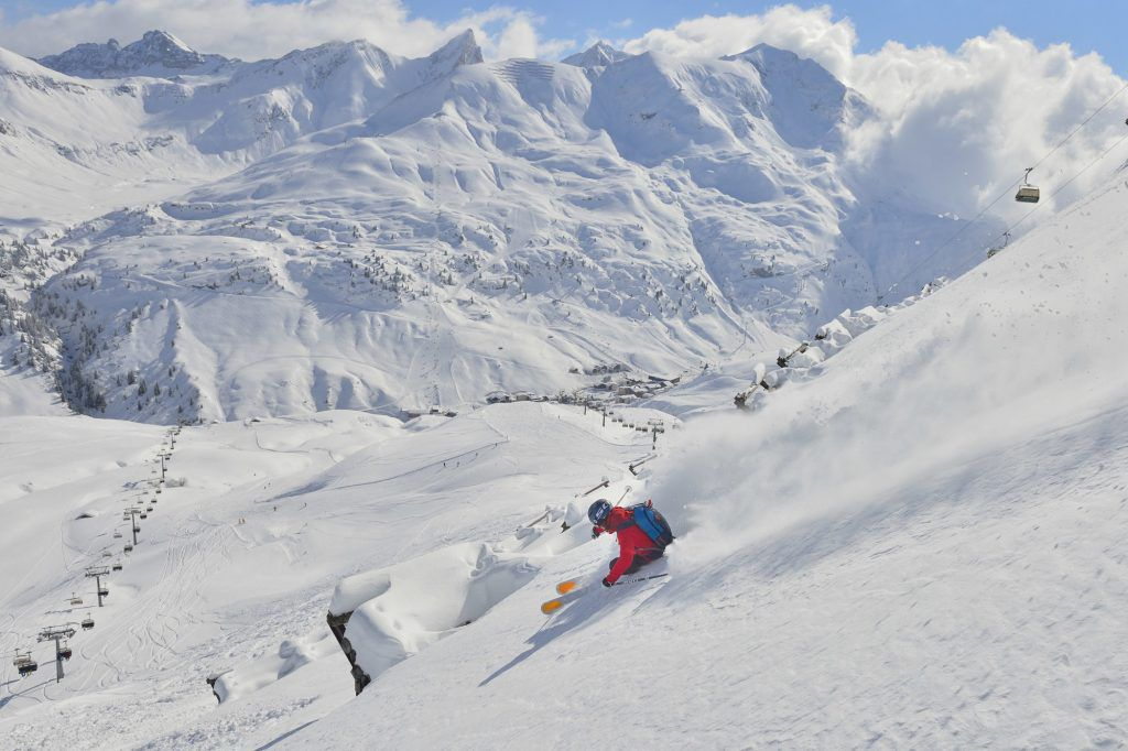 Pudersvängar i Arlberg. Foto: © Austrian National Tourist Office / Josef Mallaun